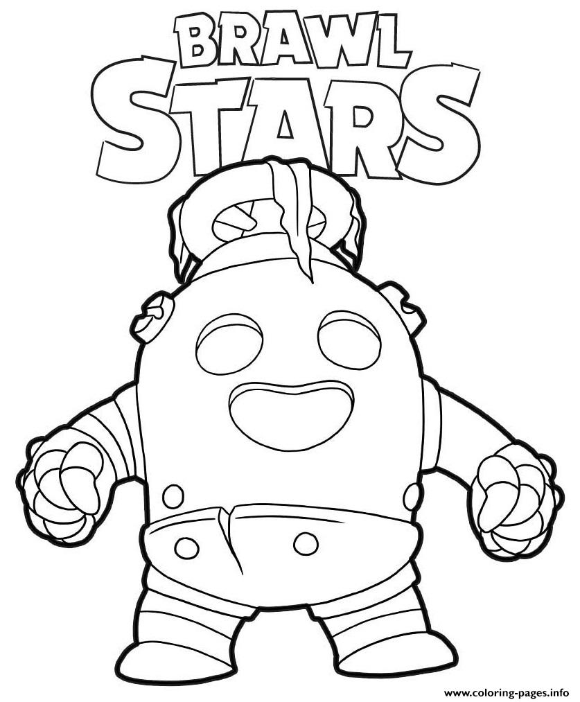 Robo Spike Brawl Stars Coloring Pages Printable dedans Coloriage Brawl Stars