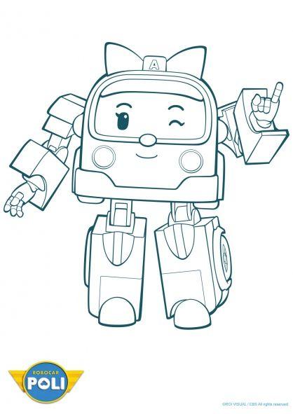Robocar Poli : Ambre (2) | Coloriage Robocar Poli à Jeux De Robocar Poli Gratuit
