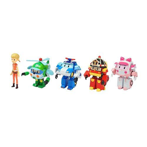 Robocar Poli - Coffret 5 Figurines (Nous) | Toys R Us intérieur Jeux De Robocar Poli Gratuit