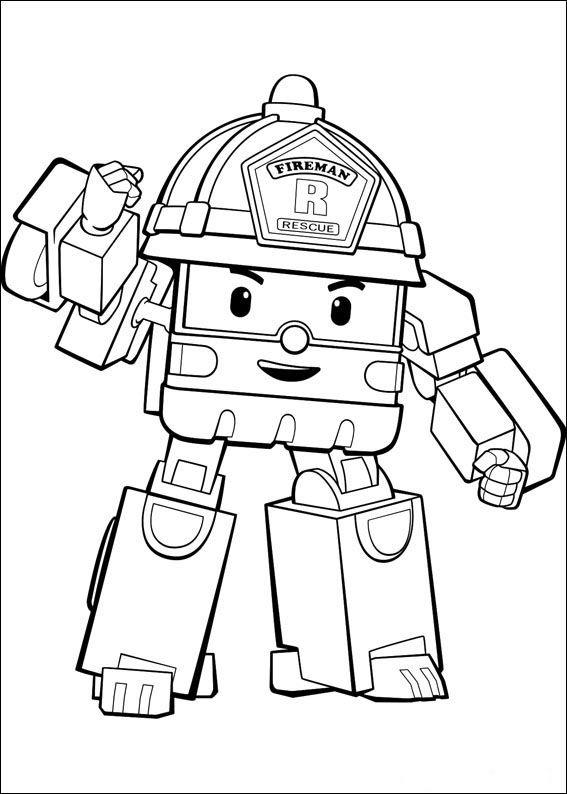 Robocar Poly Fargelegging For Barn. Tegninger For Utskrift concernant Robocar Poli Coloriage A Imprimer