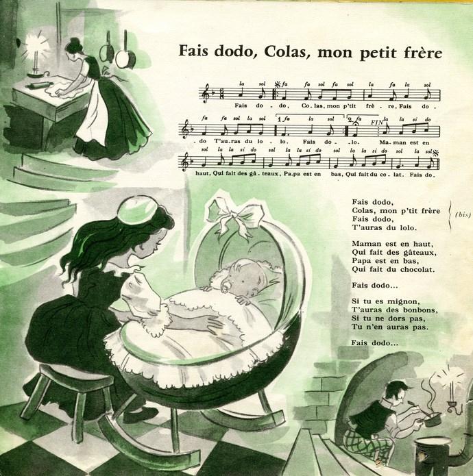 Rondes Et Chansons De France N° 3 avec Fais Dodo Colas Mon Petit Frère Paroles