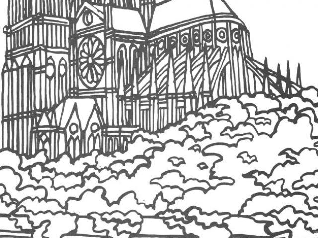 Rosace Notre Dame De Paris Coloriage Coloriage Rosace destiné Coloriage Notre Dame De Paris
