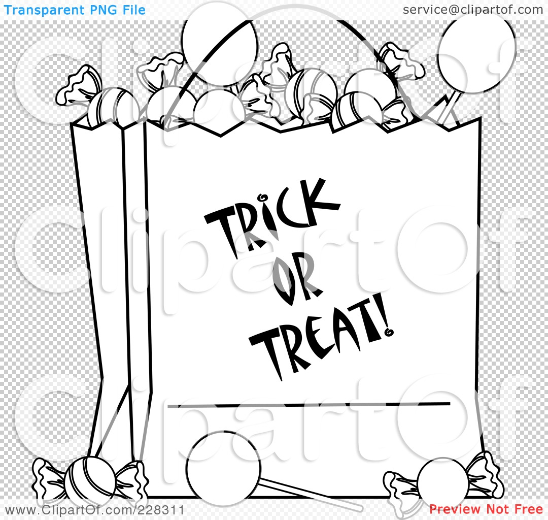 Royalty-Free (Rf) Clipart Illustration Of A Coloring Page intérieur Trick Or Treat Coloring Book: Trick Or