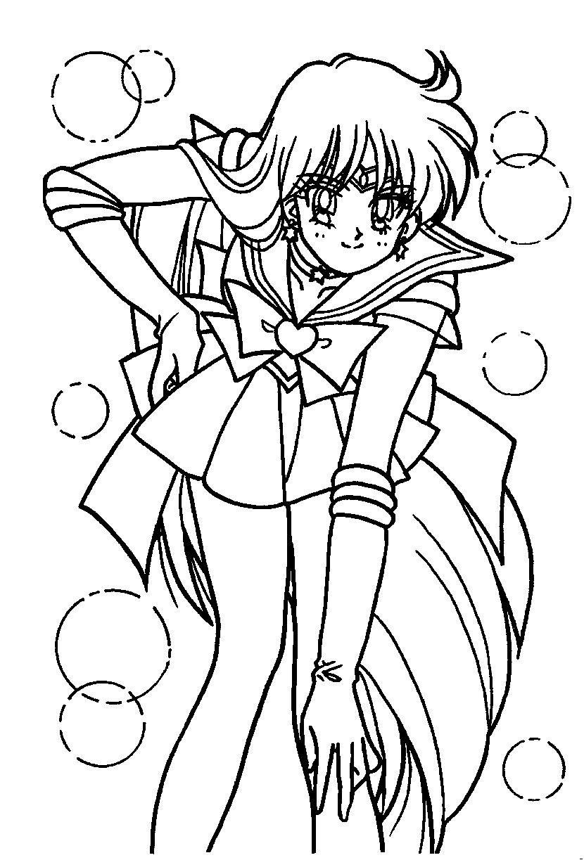 Sailor Mars Coloring Page // #Sailormoon | Sailor Moon encequiconcerne Coloriage Manga A Imprimer