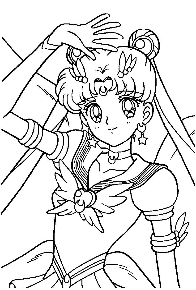 Sailor Moon Forever: Desenhos Para Colorir. concernant Coloriage Manga A Imprimer