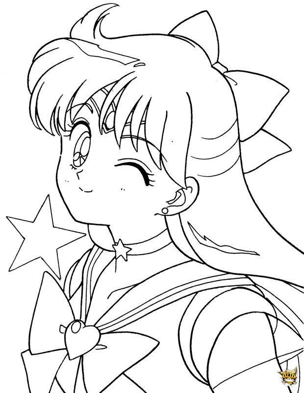 Sailor Venus Clin D'Oeil Est Un Coloriage De Sailor Moon dedans Coloriage Sailor Moon A Imprimer