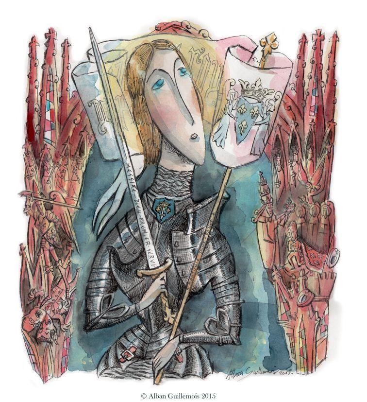 Sainte Jeanne D'Arc - ©Alban Guillemois 2015 - # concernant Dessin Magique Ste Jeanne D'Arc