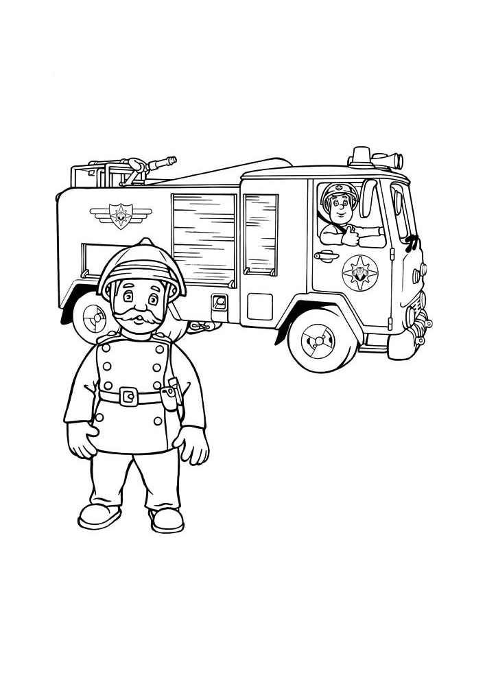 Sam Le Pompier 9569 - Coloriage De Sam Le Pompier avec Dessin Pompier A Imprimer