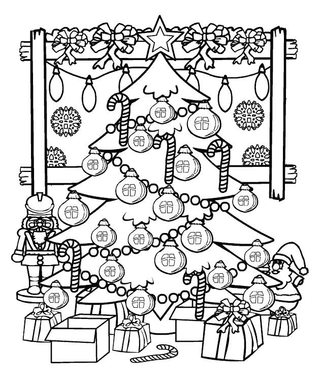 Sapin De Noël 33 Objets Coloriages Imprimer Avec Coloriage serapportantà Coloriages Magiques Noel