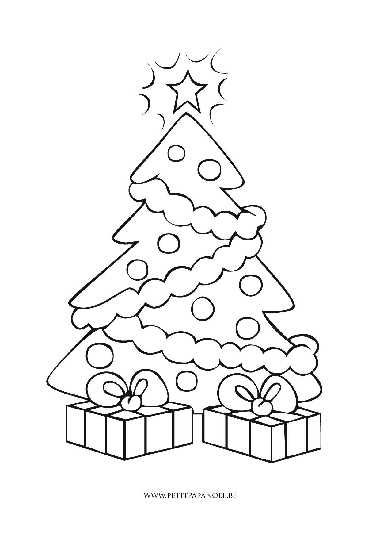 Sapin De Noël Christmas Coloring Page | Coloriage Noel serapportantà Image De Dessin De Noel