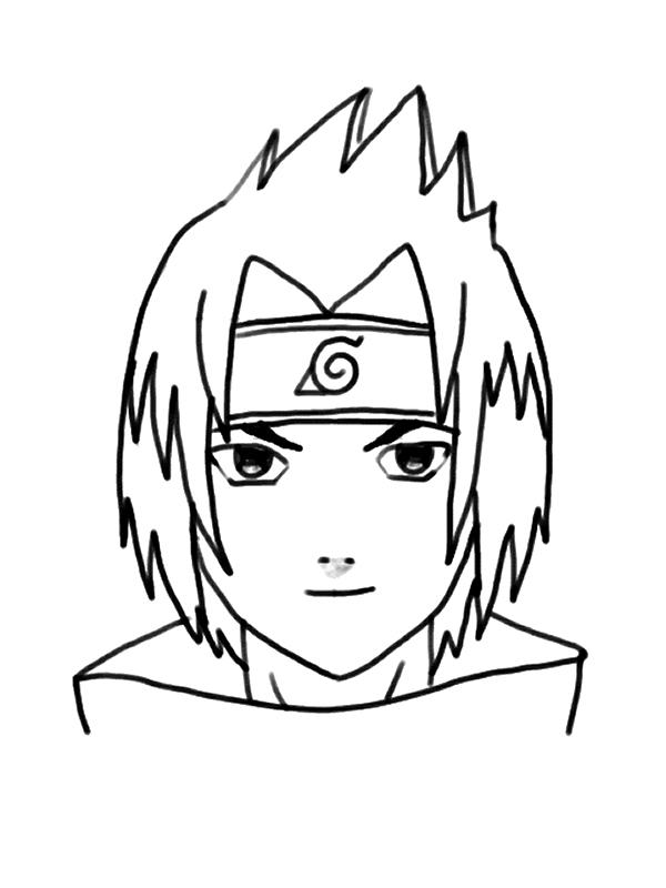 Sasuke Uchiha avec Coloriage Naruto Sasuke