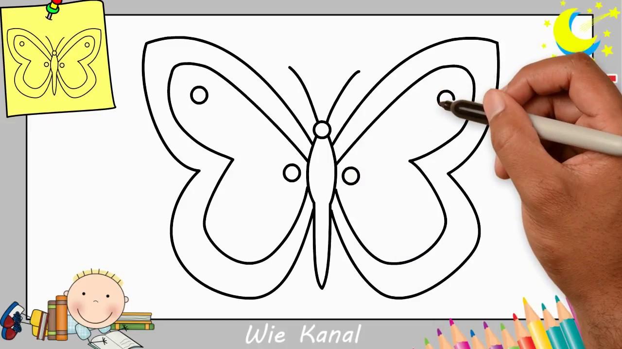 Schmetterling Zeichnen Lernen Einfach Schritt Für Schritt avec Dessin Petit Papillon
