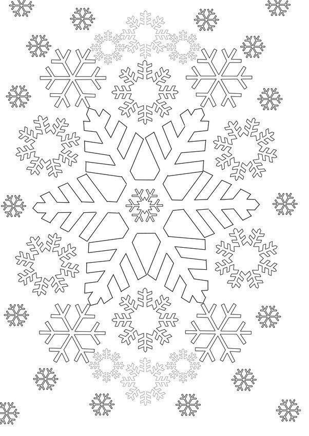 Schneeflocken … | Coloriage, Flocon De Neige Dessin pour Flocon À Colorier