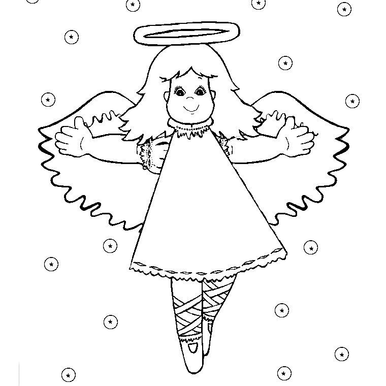 Sélection De Coloriage Ange De Noel À Imprimer Sur pour Dessin Ange De Noel