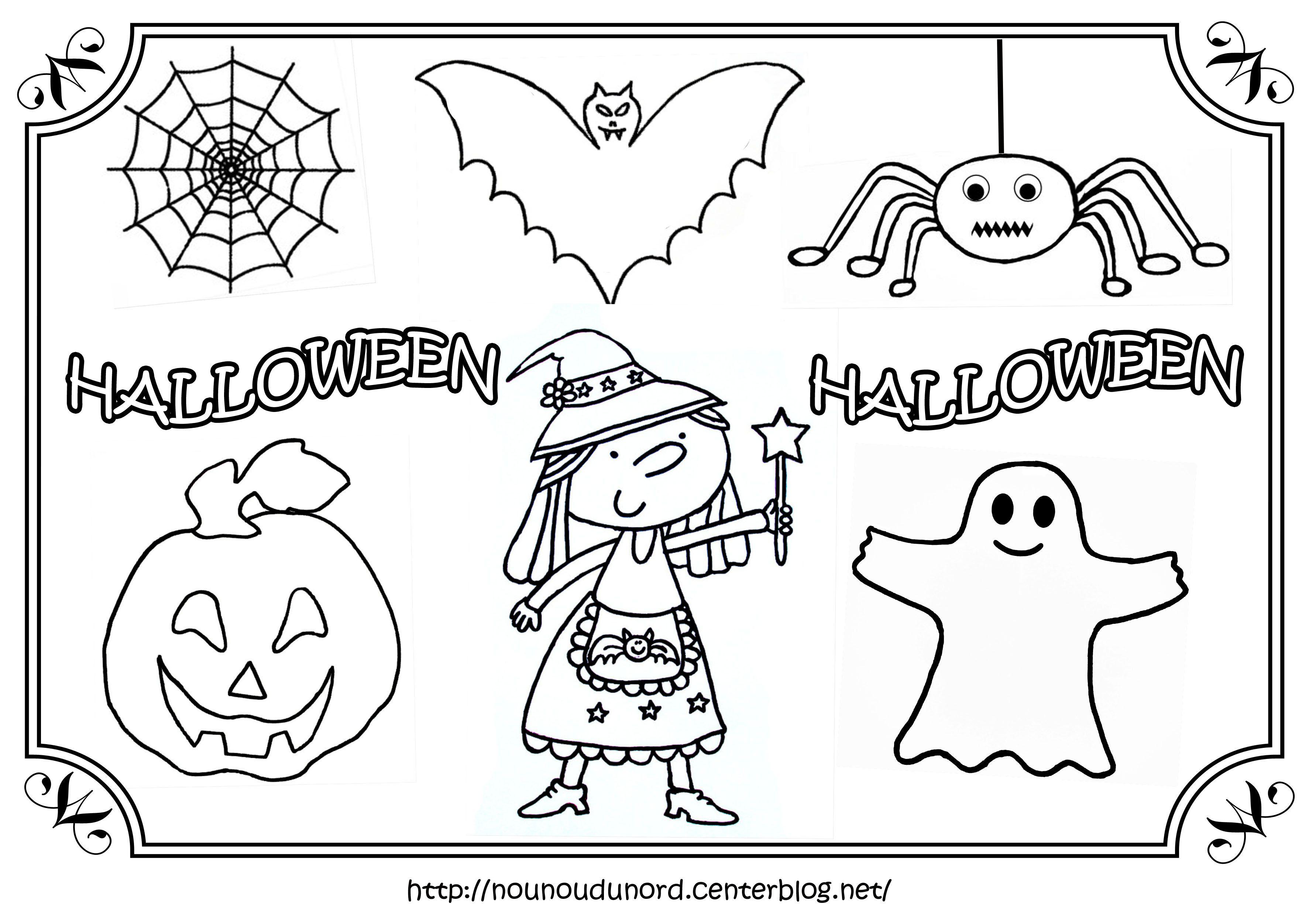 Sélection De Dessins De Coloriage Halloween À Imprimer Sur intérieur Dessin Enfant A Imprimer