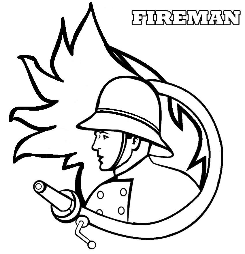 Sélection De Dessins De Coloriage Pompier À Imprimer Sur serapportantà Dessin Pompier A Imprimer