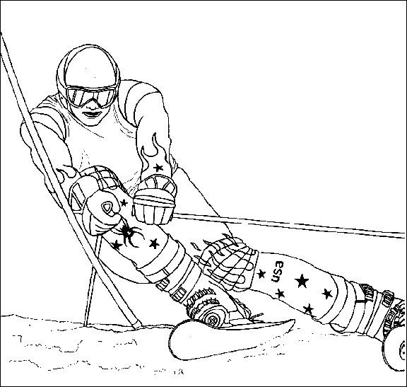 Sélection De Dessins De Coloriage Ski À Imprimer Sur destiné Dessin De Ski