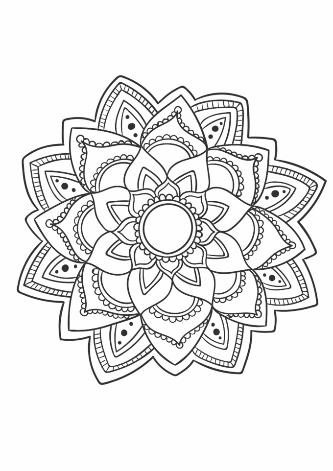 Send You 10 Beautiful Mandala Coloring Book Pages By serapportantà 100 Greatest Mandala Coloring Book: