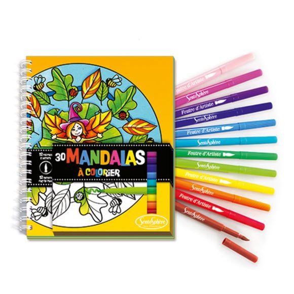 Sentosphère - Carnet De Coloriage Et Feutres : Mandalas à Feutres Coloriage Pas Cher