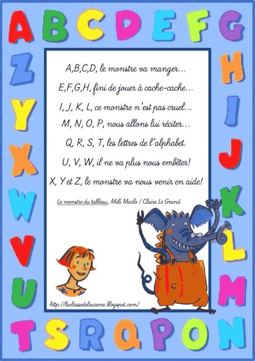 Septembre - Webécoles - Bourgoin 2 intérieur Comptine De L Alphabet