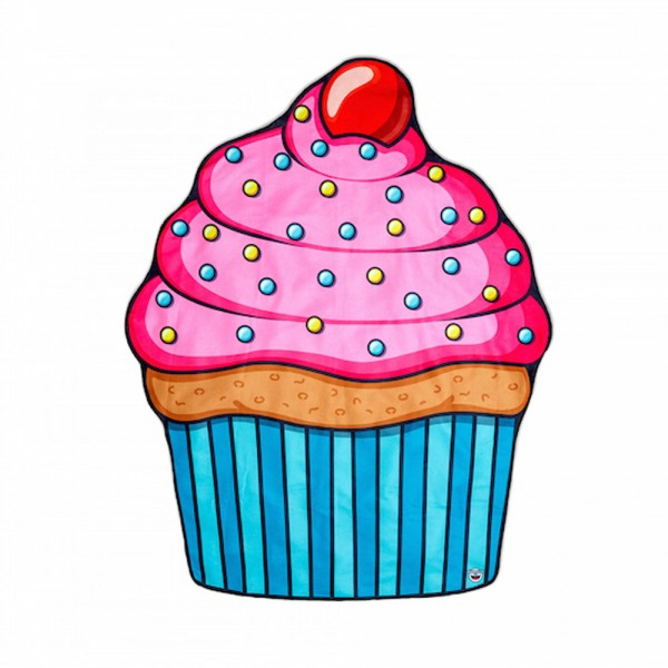 Serviette De Plage Cupcake - Cadeau Maestro à Cup Cake Dessin