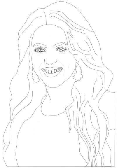 Shakira Coloriage De La Chanteuse Sketch Coloring Page encequiconcerne Coloriage Chanteuse