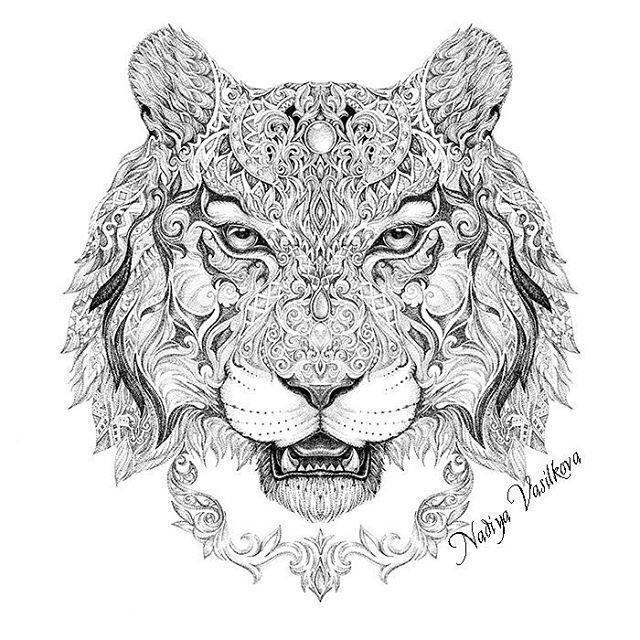 Shaman Tiger Itog I Think This Is My Most Popular Totem dedans Mandalas De Tigres