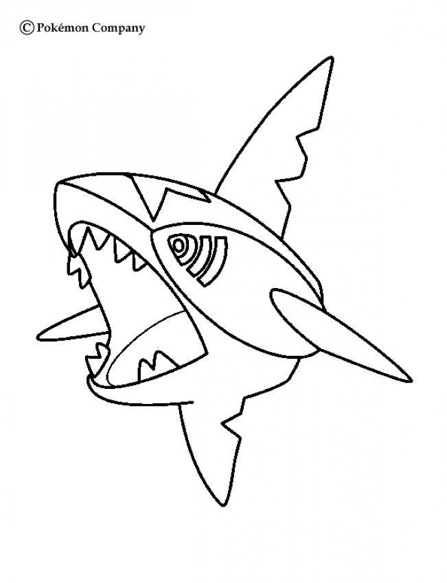 Sharpedo Pokemon Coloring Page. More Water Pokemon intérieur Coloriage Pok?Mon Togedmarou