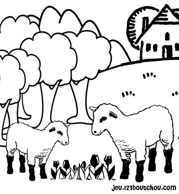 Shaun Le Mouton à Coloriage Mouton À Imprimer