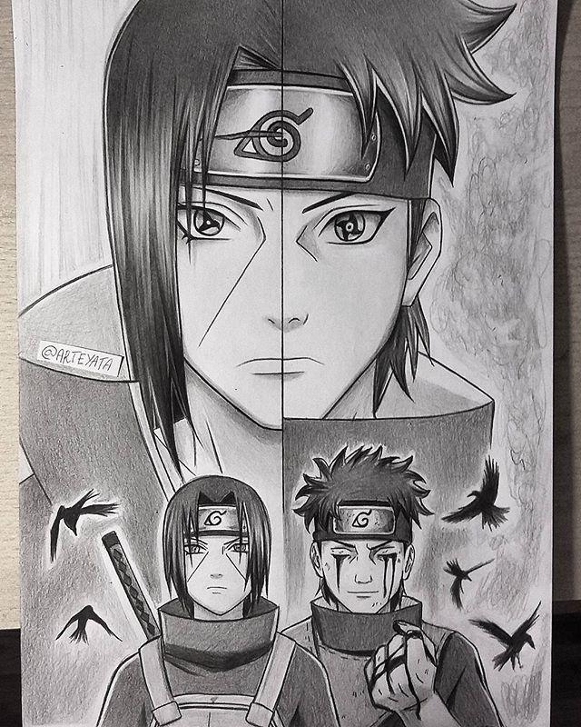 Shisui & Itachi | Naruto Sketch, Naruto Drawings, Naruto Art encequiconcerne Dessin Naruto