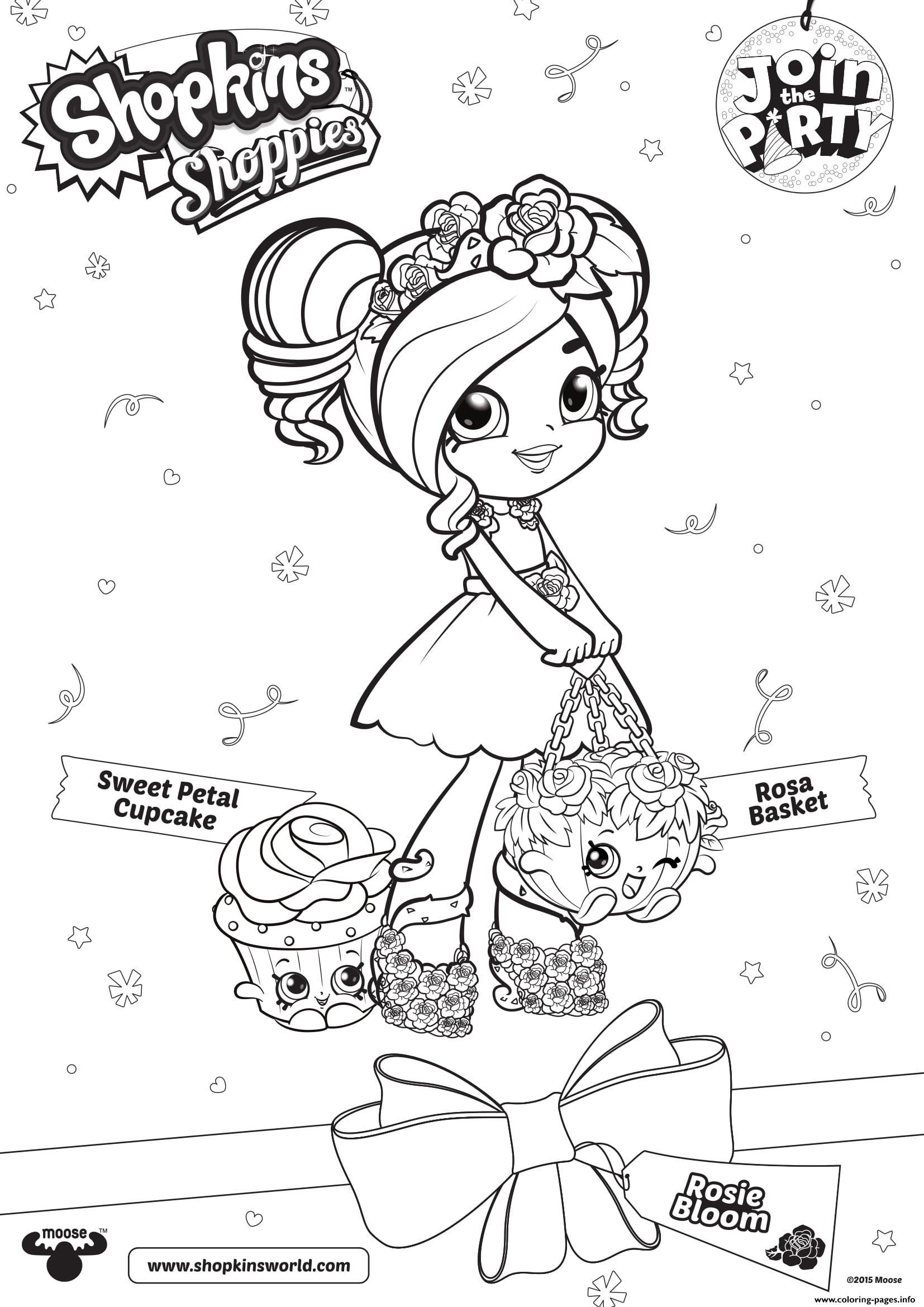 Shopkins Shoppies Sweet Petal Cupcake Rosie Bloom 1 concernant Coloriage Cupcake A Imprimer