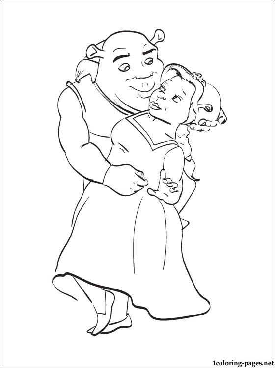 Shrek With Fiona Printable Pages For Coloring | Coloring Pages encequiconcerne Coloriage Shrek Et Fiona