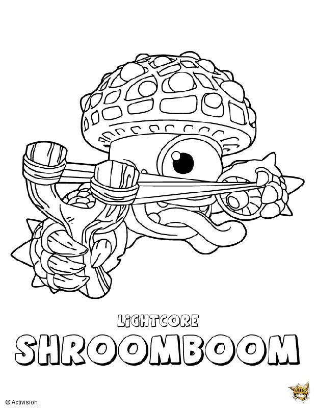 Shroomboom Est Un Coloriage De Skylanders dedans Coloriage Skylanders À Imprimer