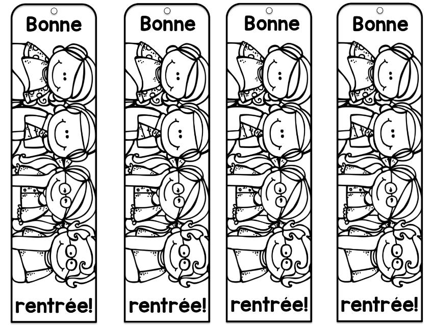 Signets Pour La Rentrée! | Signets, La Rentrée, Coloriage tout Coloriage Rentr?E Des Classes