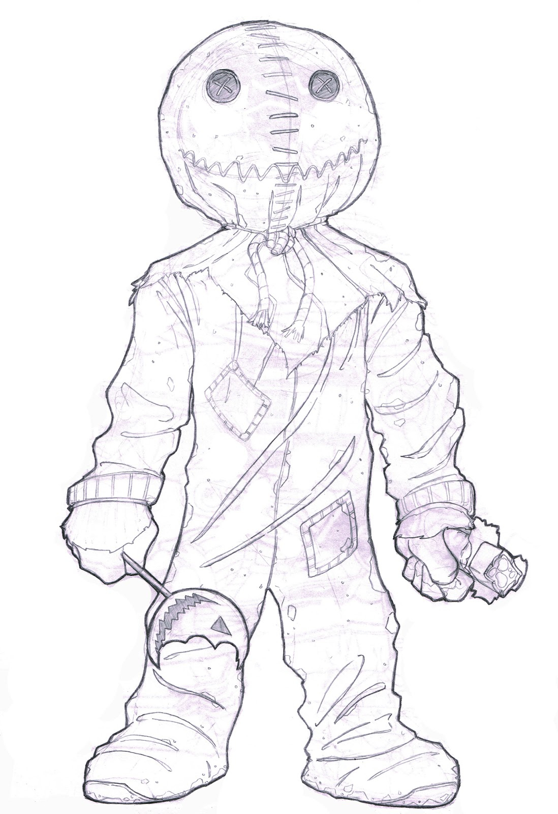 Sketch Paddys: Trick 'R Treat Sam pour Trick Or Treat Coloring Book: Trick Or