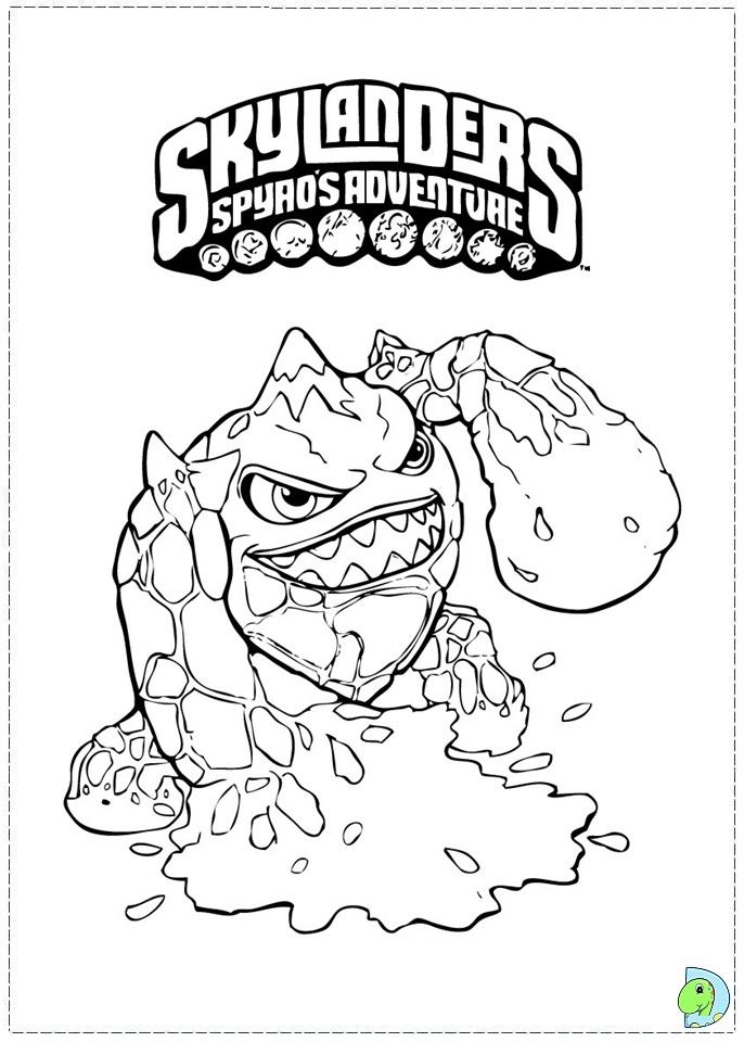 Skylanders Coloring Page- Dinokids dedans Coloriage De Skylanders Giants