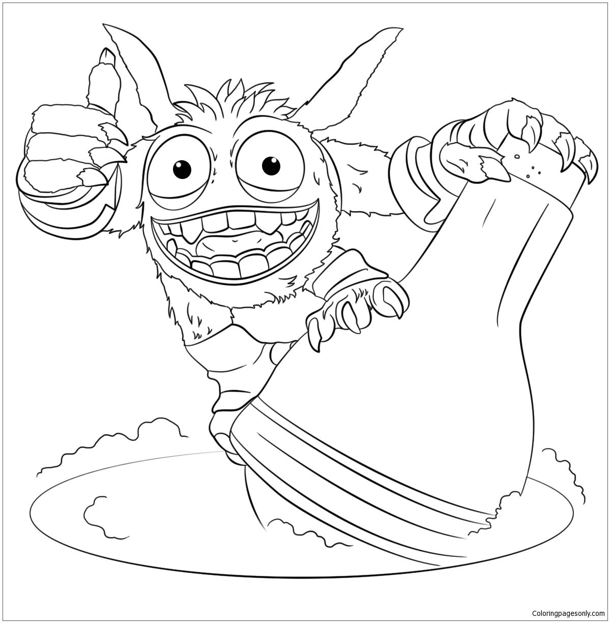 Skylanders Giants Pop Fizz Coloring Page - Free Coloring avec Coloriage De Skylanders Giants
