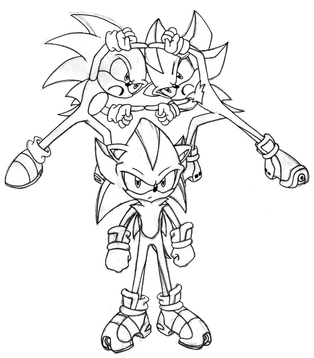 Sonic À Colorier - Coloriage Sonic Le Hérisson intérieur Sonic À Colorier