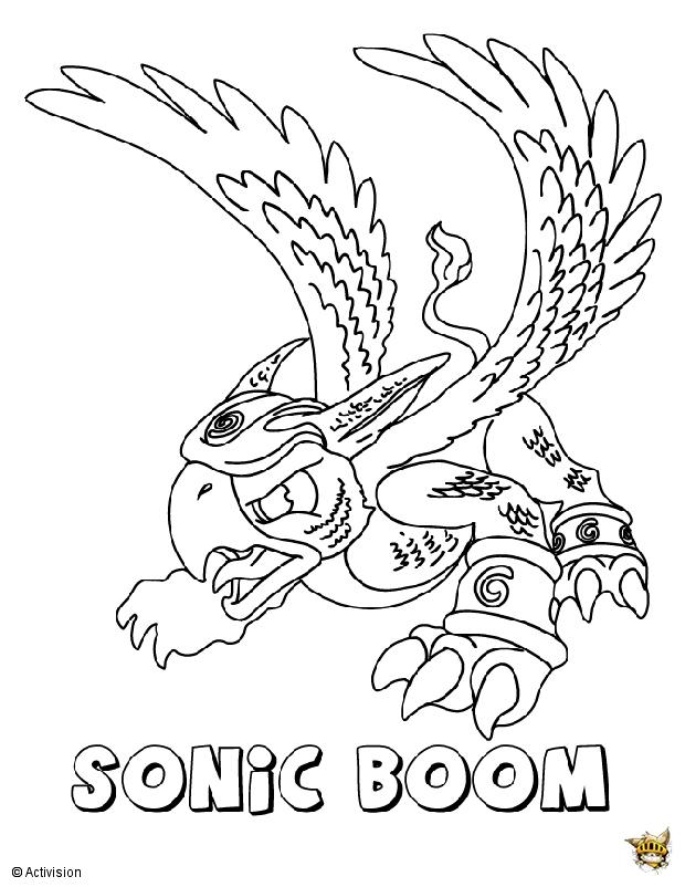 Sonic Boom Est Un Coloriage De Skylanders intérieur Coloriage Skylanders Trap Team A Imprimer Gratuit