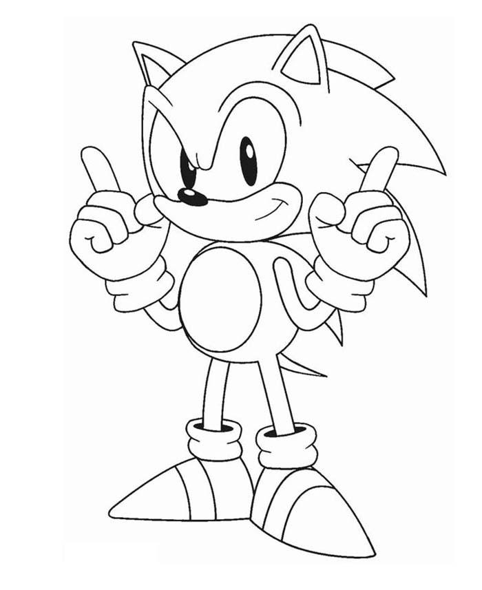 Sonic Le Film + Coloriages Gratuits Sonic destiné ...