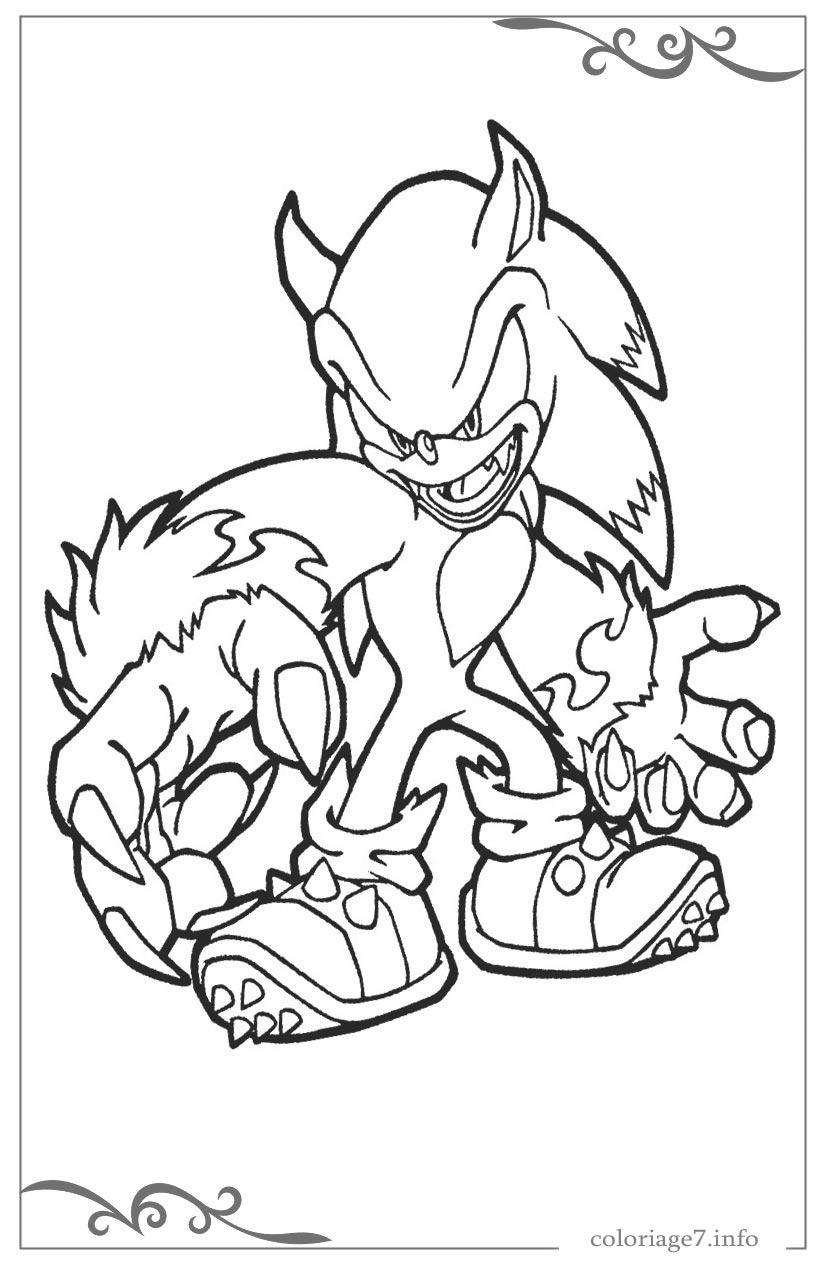 Sonic X Coloriages Pour Les Enfants tout Coloriage Sonic Le Film