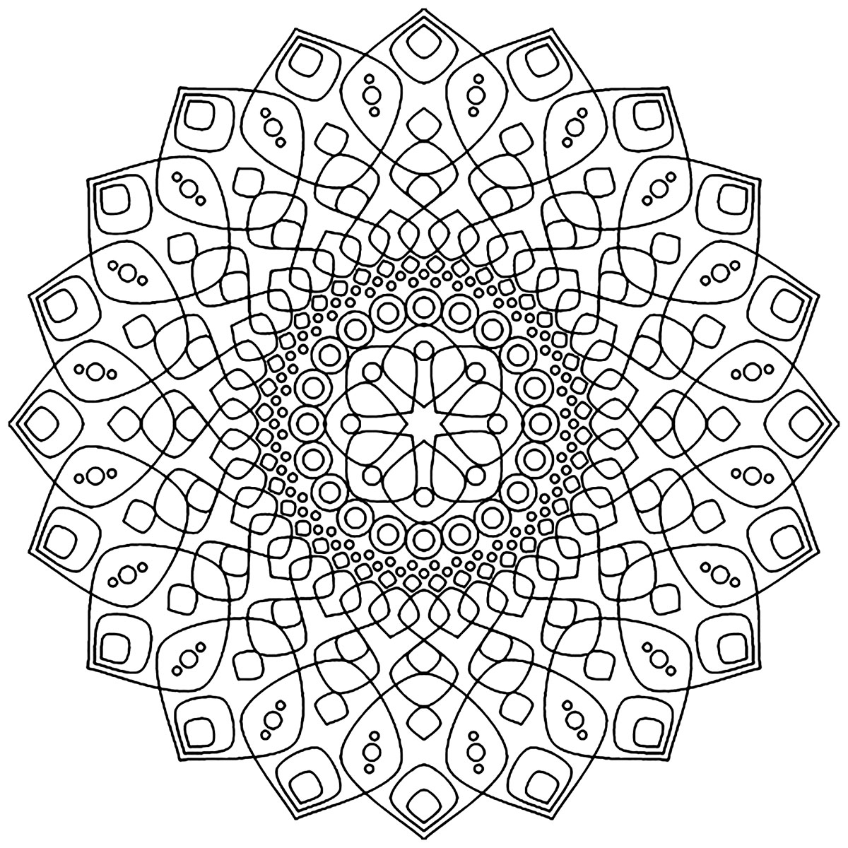 Soothing And Calming Mandala - Simple Mandalas - 100% tout 100 Greatest Mandala Coloring Book: