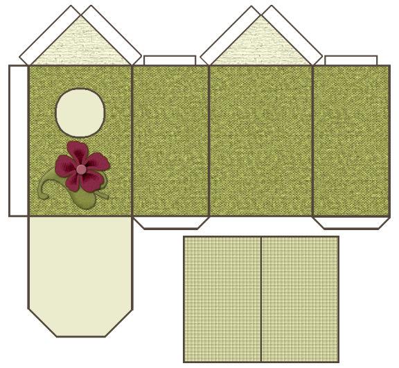 Sous Mon Arbre : Maisons En Papier tout Patron+Maison+Papier+A+Imprimer