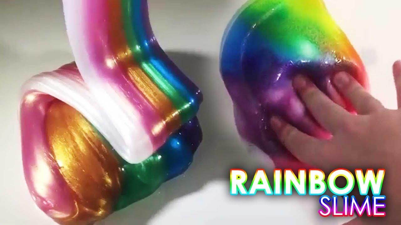 Spam Slime, Rainbow Slime Metalik Terbaik - concernant Videos De Slime