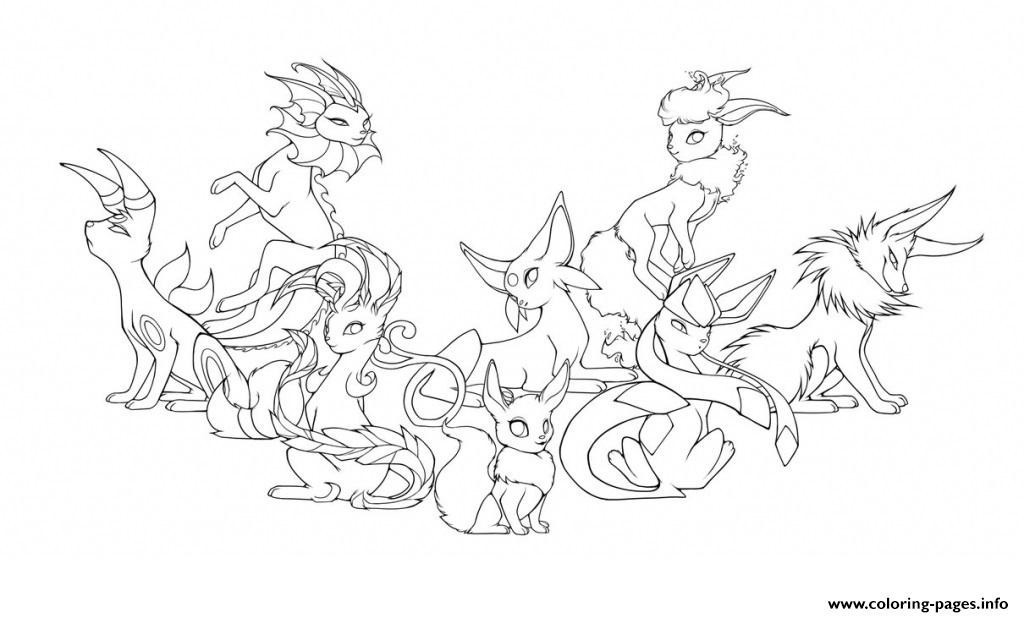 Spectacular Coloriage Evoli Et Ses Evolution At Supercoloriage serapportantà Coloriage Pokemon Evoli