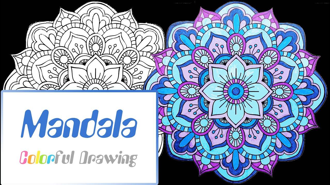 Speed Coloring - Coloriage Mandala N°4 ! - tout Mandala À Colorier En Ligne