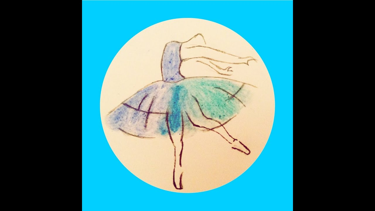 Speed Drawing - Danseuse - avec Dessin Danseuse Classique