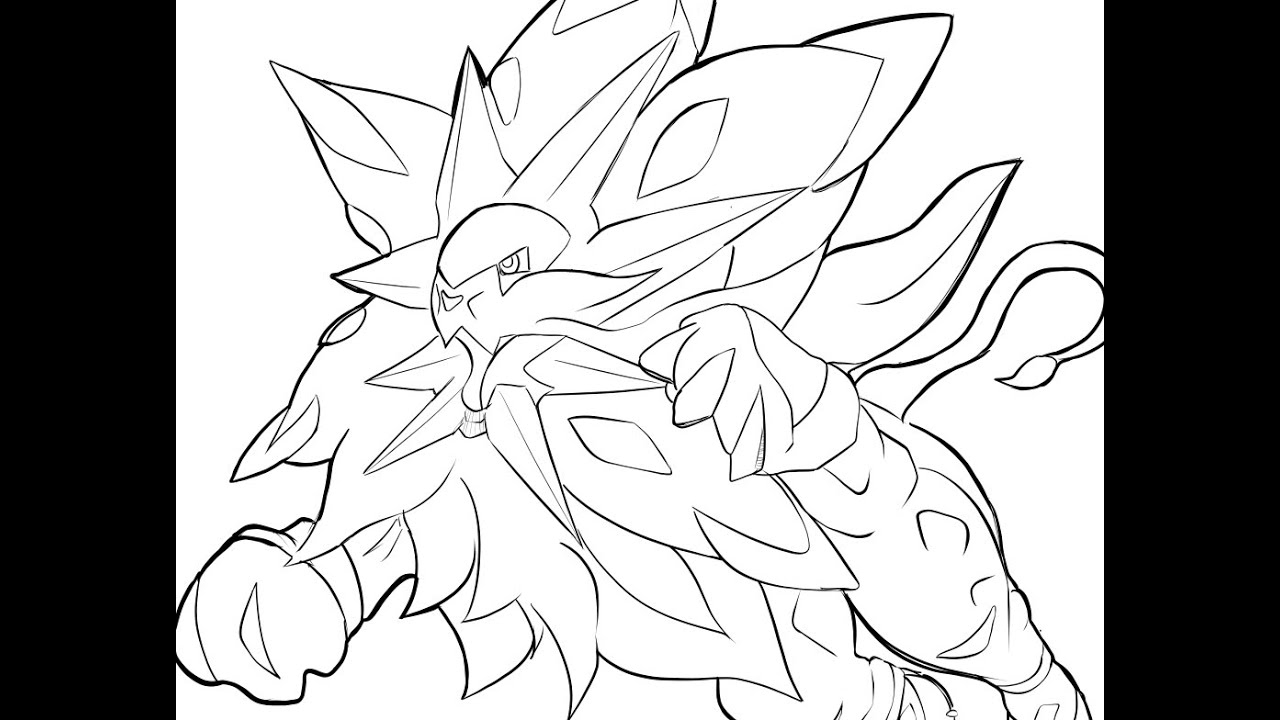 Speed Drawing ソルガレオ (Solgaleo) Pokemon Sun / Dessiner encequiconcerne Coloriage Coloriage