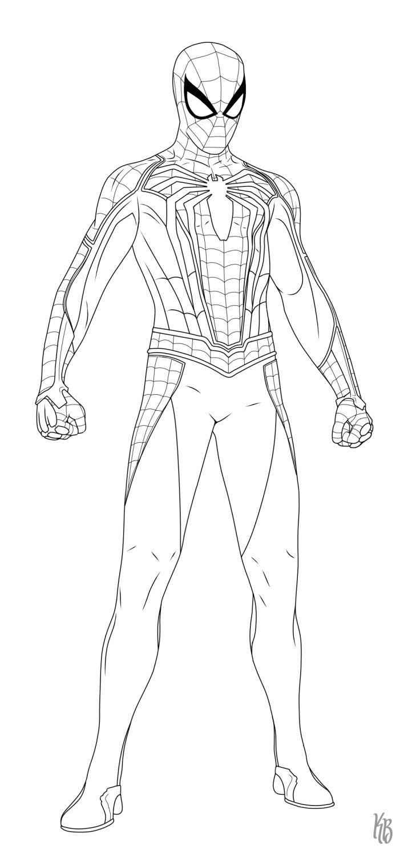 Spider-Man Ps4 (Step By Step) By Kindratblack (Avec Images encequiconcerne Coloriage De Spiderman Noir