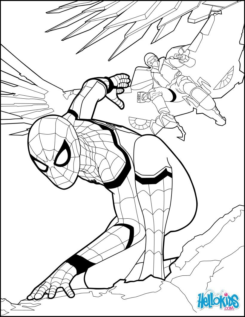 Spiderman Coloring Page From The New Spiderman Movie serapportantà Coloriage De Spiderman